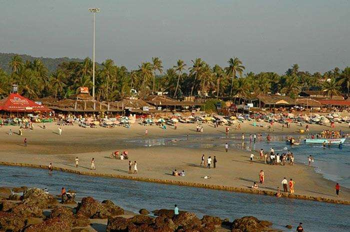 The most visited beach of Goa