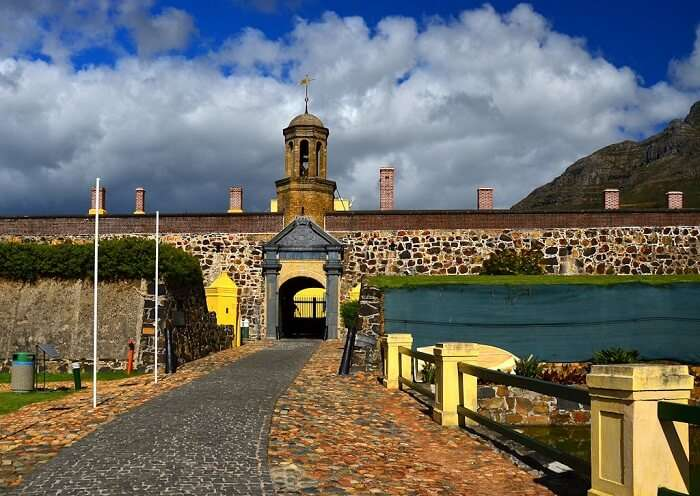 The entrance to the haunted Castle of Good Hope in Cape Town
