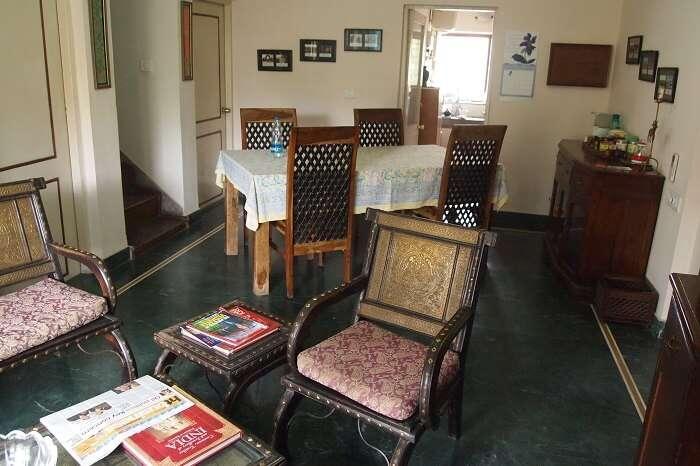 The interiors of the Chhoti Haveli in Vasant Kunj