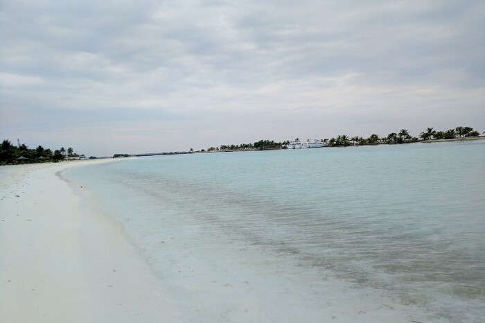 shorelines of white sandy beaches