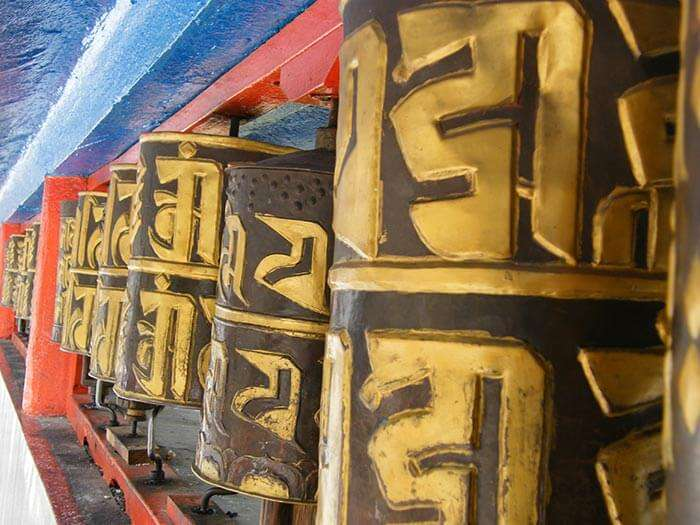 Praying bells at Namgyal Institute of Tibetology in Gangtok