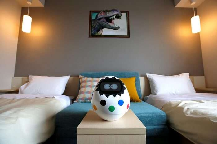 A concierge robot Tapia in Henn na Hotel