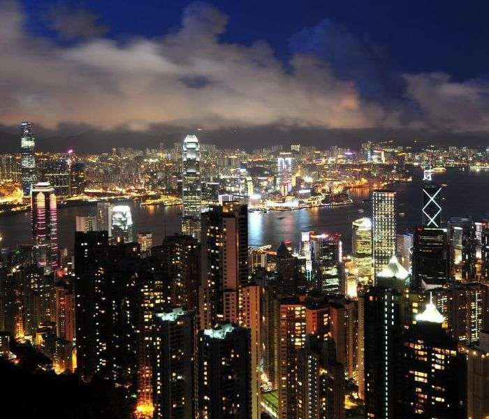 Victoria Peak, the famous vantage point in Hong Kong
