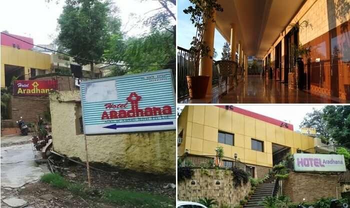 Views of the entrance and walk ways at Hotel Aradhna