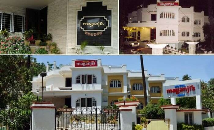 Views of the entrance of the Maganji Hotel