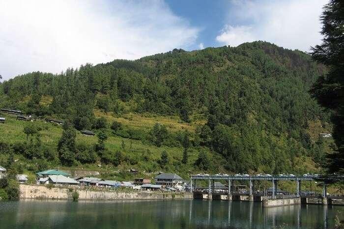 Barot from across the Uhl reservoir