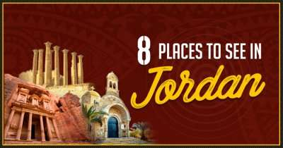 A poster of the places to visit in Jordan