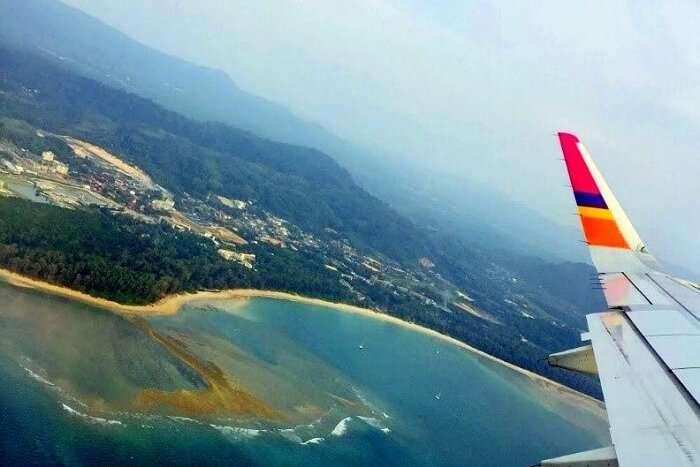 pooja thailand trip day 8 flight view