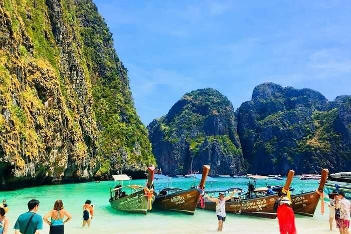 pooja thailand trip day 7 maya bay boats