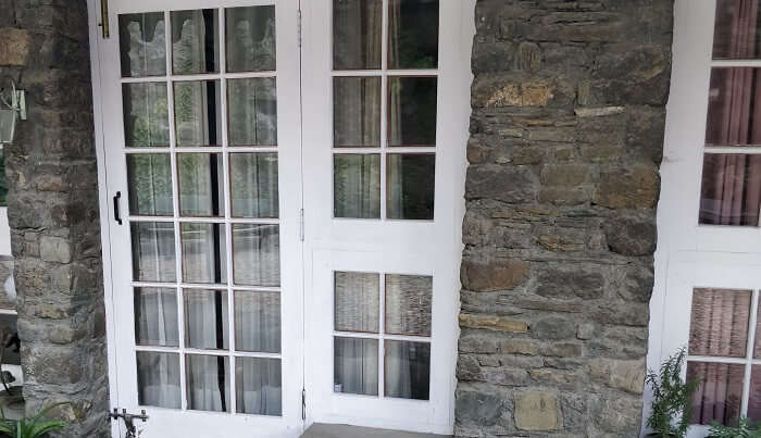 vintage style door and window of ashdale resort