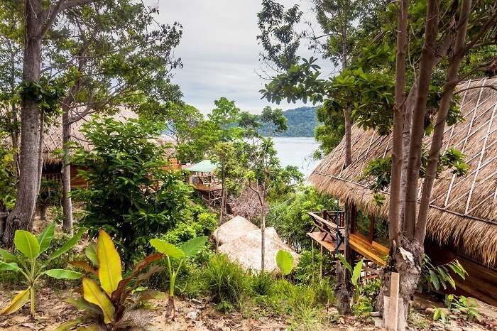 Beautiful Island of Koh Lipe with Wooden House