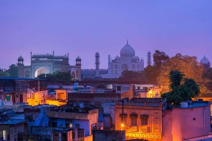 A shot of Agra taken at dawn