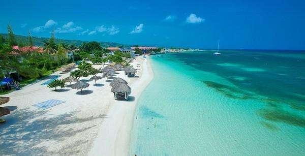 Beautiful Sandals Montego Bay beach, Jamaica