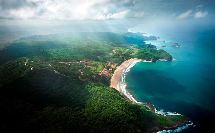 Breath-taking view of Nicaragua from air