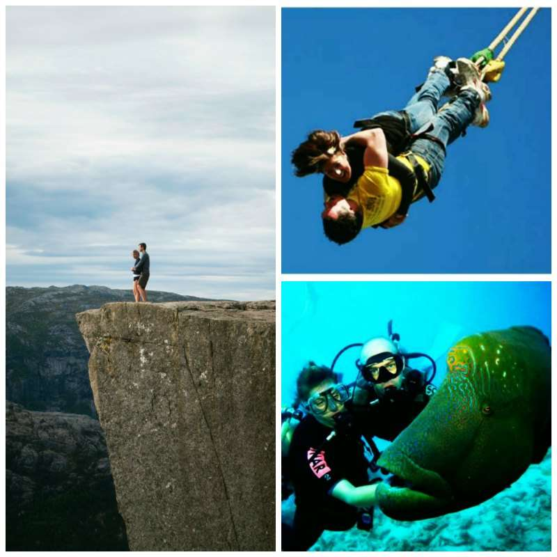 Adventures that enthrall your lifestyle: Scuba Diving, bungee jumping, hiking
