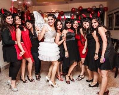 Girls in bachellorette party