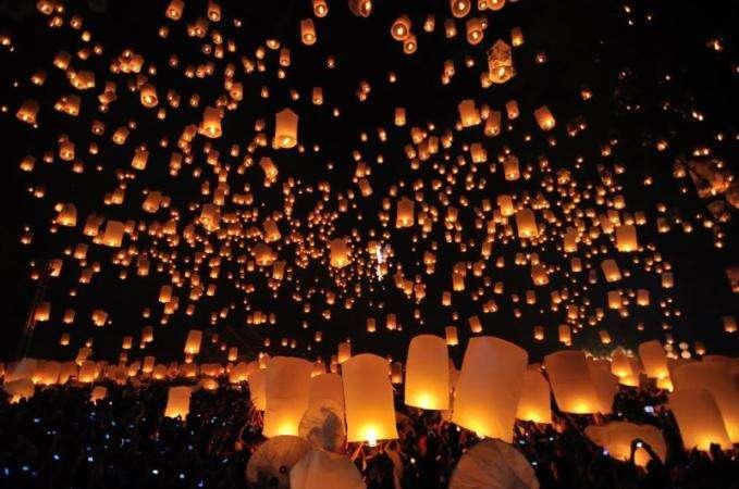 Yi Peng festival of light in Chiang Mai, Thailand
