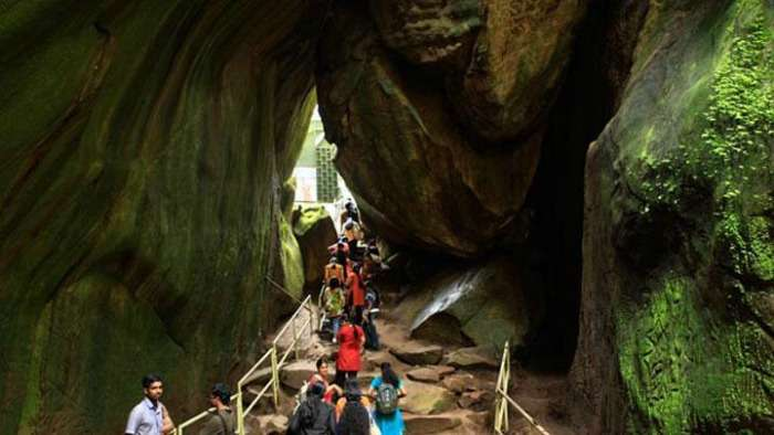 Edakkal caves in the Ambukuthy mountain, Kerala