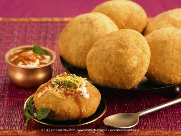 Varieties of Kachoris with tamarind or mint chutney - Rajsthan