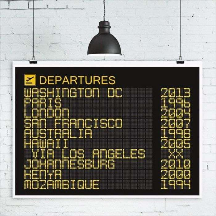 A personalised Airport Departures Board