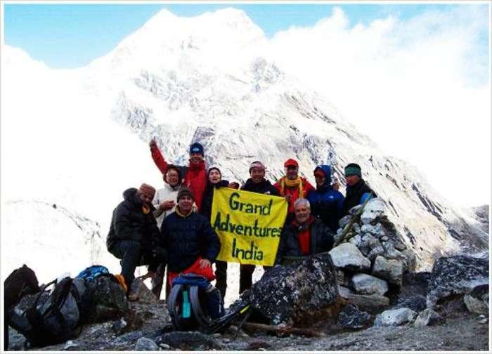 Sandakphu peaks, highest peak of the Darjeeling at West Bengal-Sikkim border
