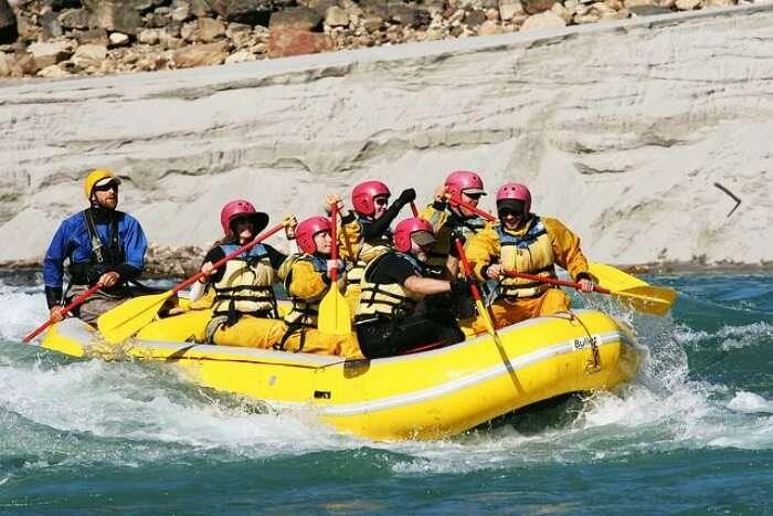 River rafting in the Siang River in Arunachal Pradesh