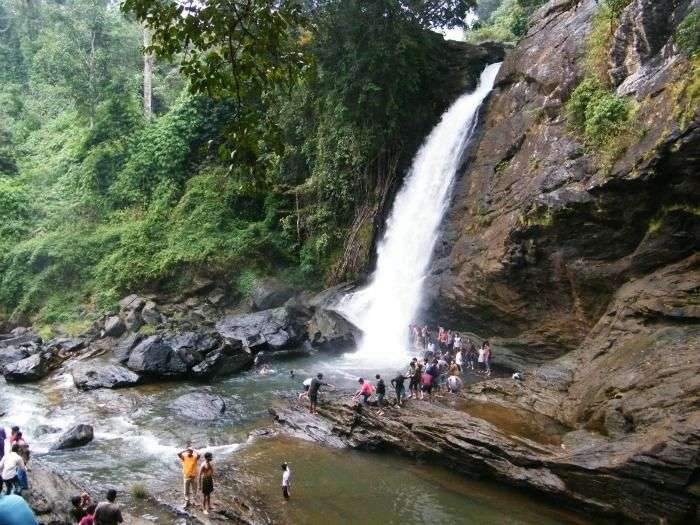 Soochipara Falls, three-tiered waterfalls in Vellarimala of Wayanad