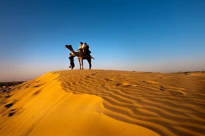 Camel ride across the Thar dessert, Rajasthan