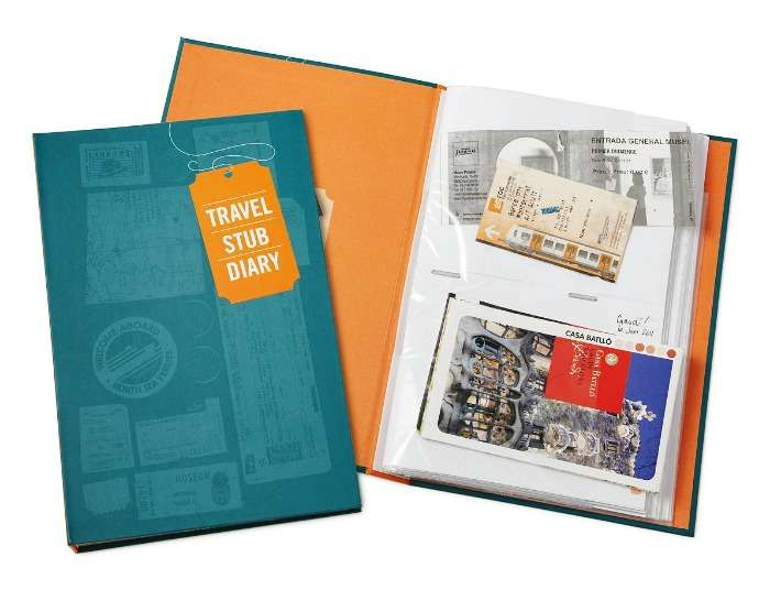 Travel Stub diary makes your adventures by storing memorabilia