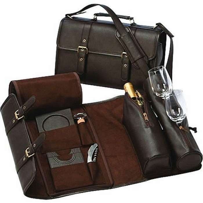 Carry your favourite vintage wine in this travel wine bag