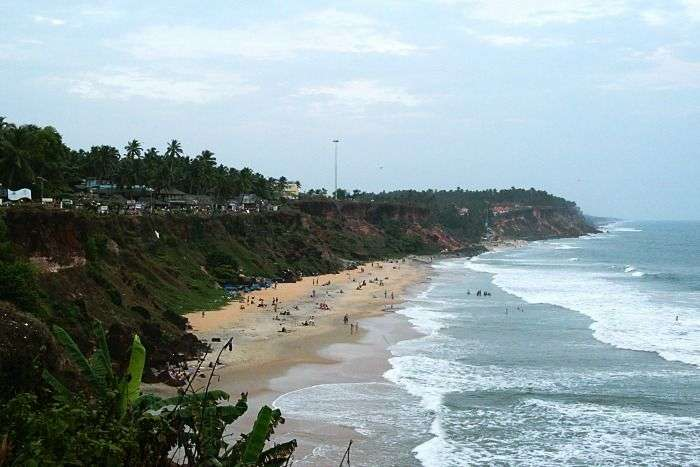 An exquisite view of the sea at Varkala beaches, Kerala