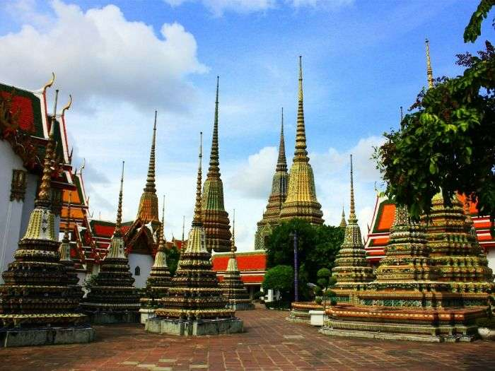 Wat Pho Buddha temple in Thailand, bangkok