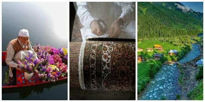 Kashmir - famous for Shikara weave, srinagar textile, Kashmir valley