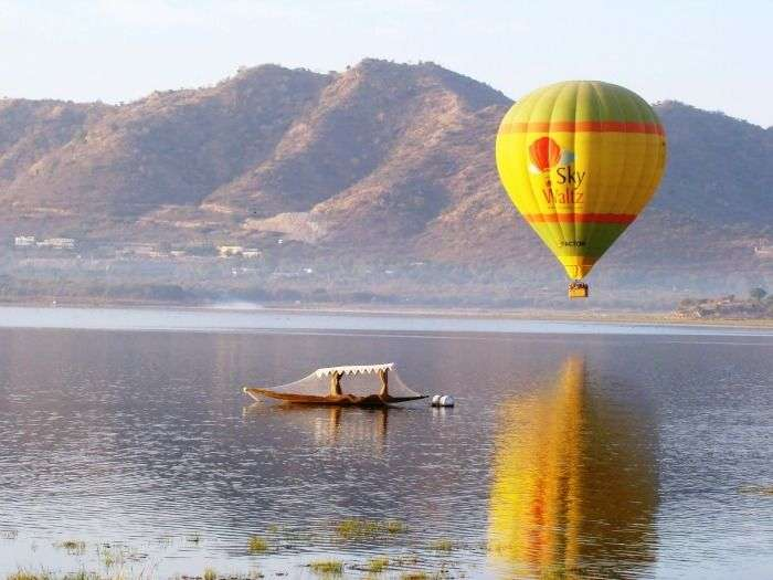 Balloon Safari - a thrilling ride over the beautiful city, Udaipur