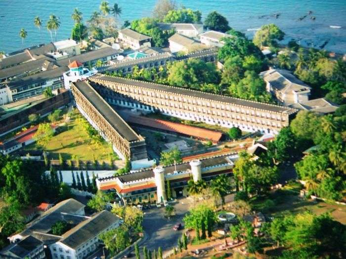 Top view of Cellular Jail in Andaman and Nicobar Islands