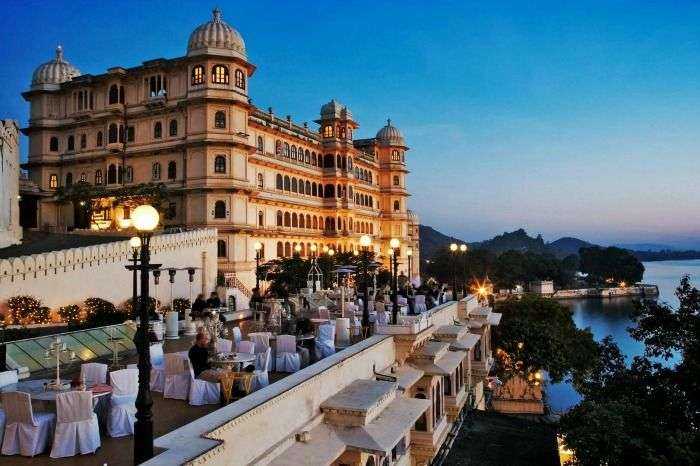 Perfect candle light dinner at Fateh Prakash Palace, Udaipur