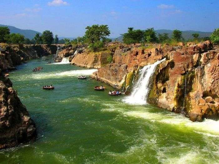 Hogenakkal waterfalls on the Cauvery River, Tamil Nadu