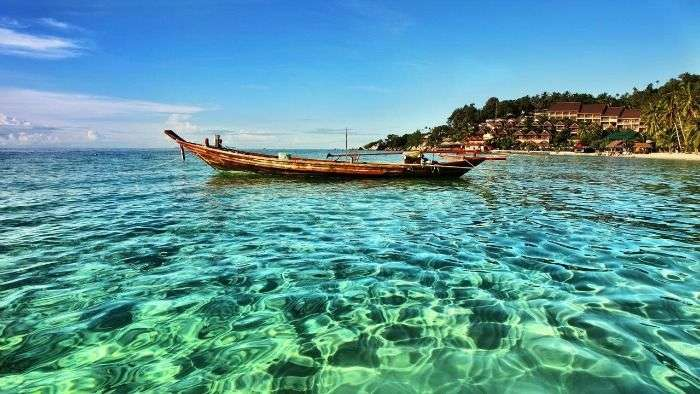 Boating at Koh Phangan Island in southeast Thailand
