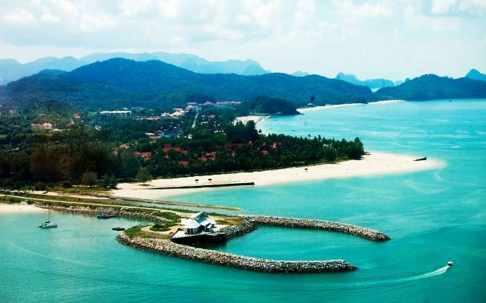 Arial view of Langkawi Island, Malaysia