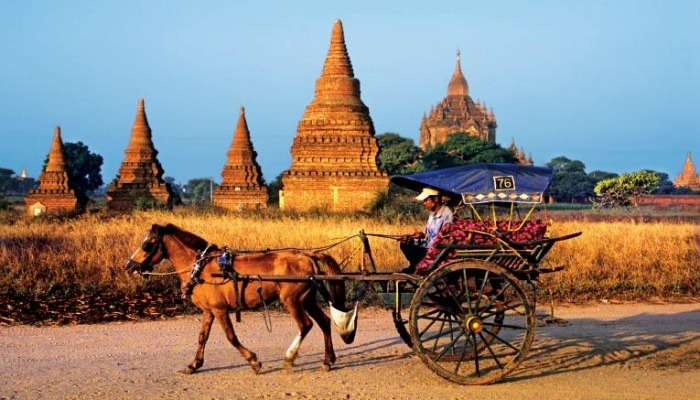 Horse Cart Ride in the Countryside of Myanmar