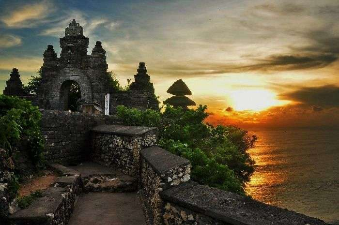 Pura Luhur Uluwatu is a Balinese sea temple in Bali