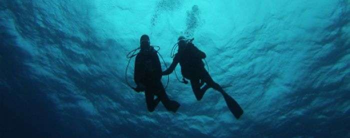 Couple Scuba diving in Havelock Island, Andaman and Nicobar Islands