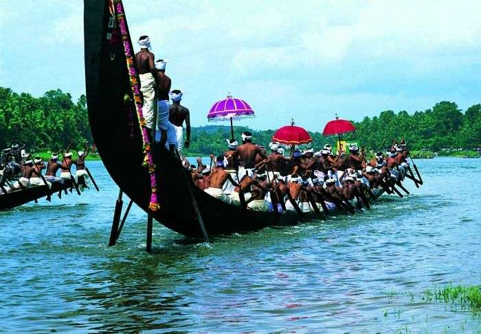 Snake boat race at Vembanad Lake - tourist attraction in kerala