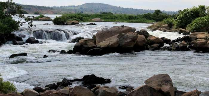 The Source of the Nile river in Uganda