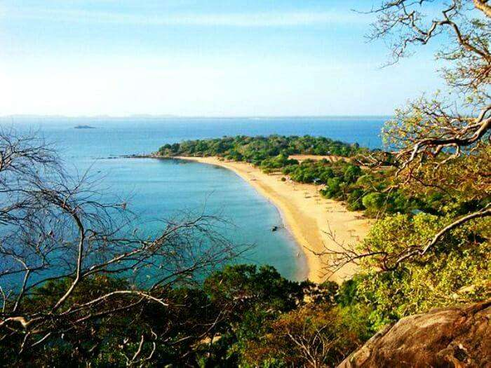 The beautiful beach at Trincomalee in Sri Lanka