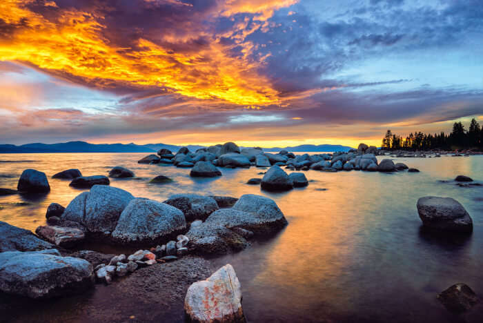 Lake Tahoe View In California
