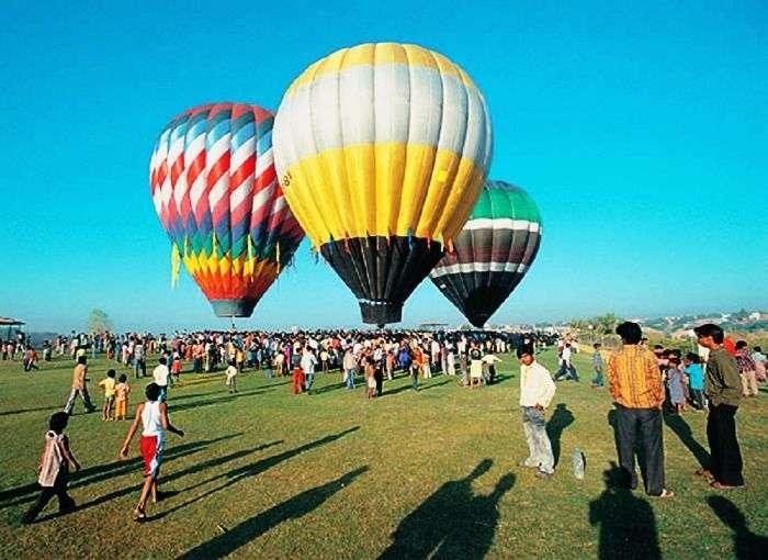 Hot air balloons in Goa