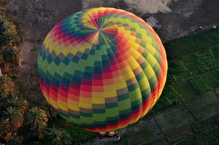 Hot air balloon ride in Coorg