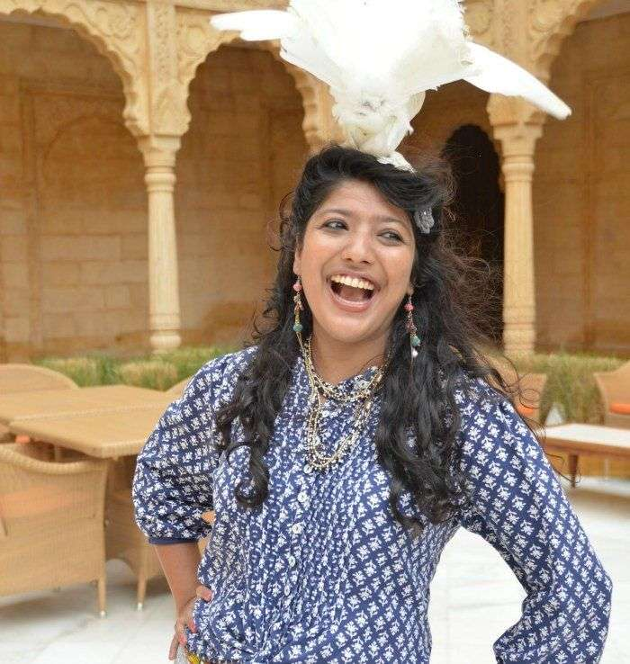 Ankita - keeping her spirits high & toes wandering