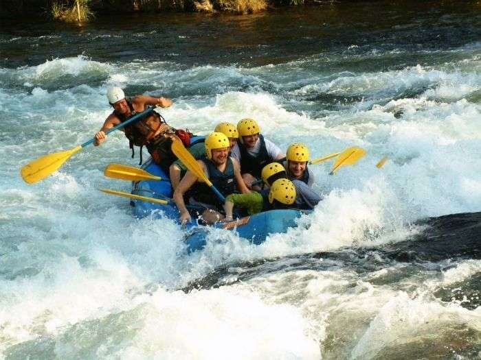 A pure white water river rafting adventure in Bhagirathi River